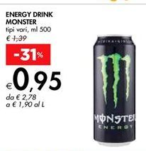 Offerta per Energy drink Monster a 0,95€