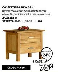 Offerta per Cassettiera New Oak a 75€