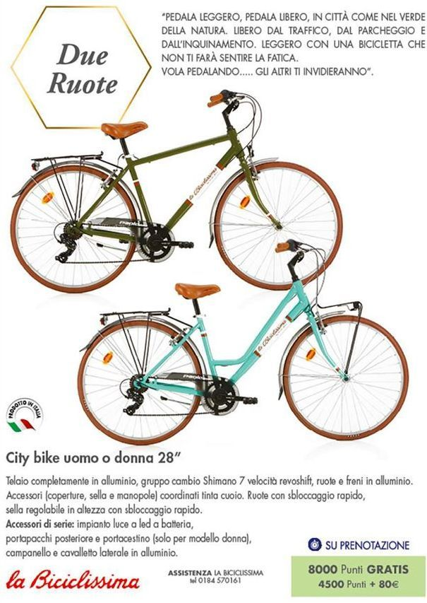 "Offerta per City bike uomo o donna 28"" a"