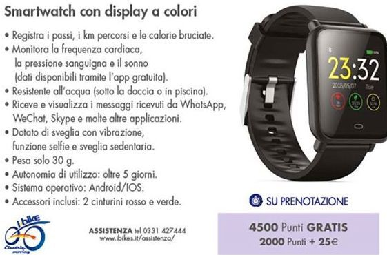 Offerta per Smartwatch con display a colori a