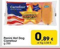 Offerta per Panini Hot dog Carrefour a 0,89€
