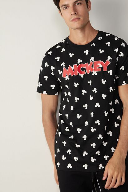 Offerta per T-shirt in Cotone Stampa Mickey Faces a 19,9€