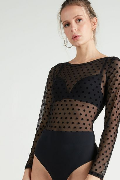 Offerta per Body in Tulle Floccato Mix Flock a 19,99€