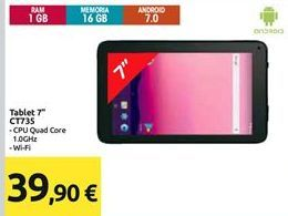 Offerta per Tablet Android 7'' a 39,9€