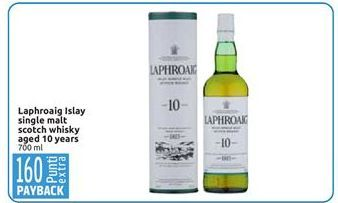 Offerta per Laphroaig Islay single malt scotch whisky aged 10 years a