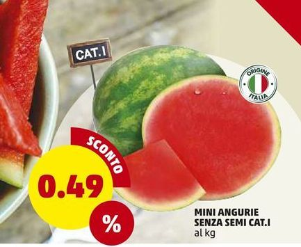 Offerta per Mini angurie senza semi cat.I a 0,49€