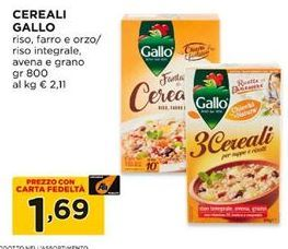 Offerta per Cereali gallo a 1,69€