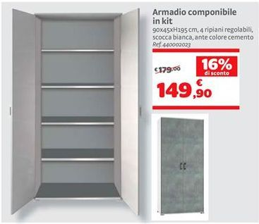 Offerta per Armadio componibile in kit a 149,9€