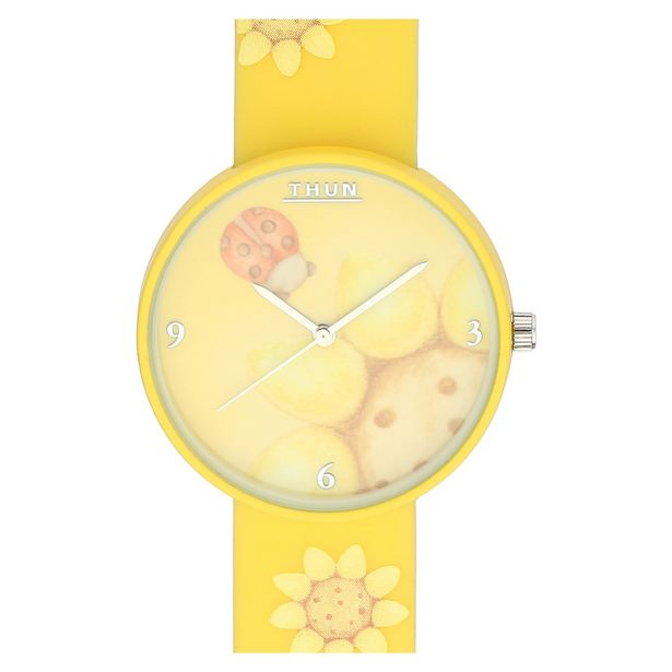 Offerta per Orologio da polso Country girasole cassa in metallo smaltato a 17,45€
