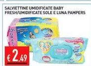 Offerta per Salviettine umidificate baby fresh/umidificate sole e luna pampers a 2,49€