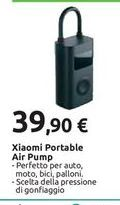 Offerta per Xiaomi Portable Air Pump a 39,9€