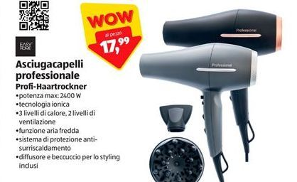 Offerta per Asciugacapelli professionale Easy home a 17,99€