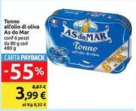 Offerta per Tonno in olio d'oliva Às do Mar 6x80gr a 3,99€