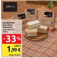 Offerta per Sandwiches Carrefour Selection 160gr a 1,99€