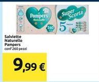 Offerta per Salviette Naturello Pampers 260 pezzi a 9,99€