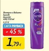 Offerta per Shampoo/balsamo Sunsilk 400/350ml a 1,79€