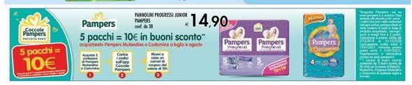 Offerta per Pannolini Progressi Junior Pampers a 14,9€