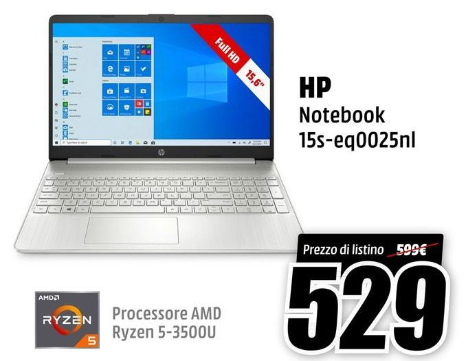 Offerta per Notebook HP a 529€