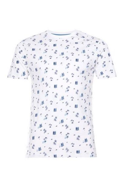 Offerta per T-shirt bianca ditsy con stampa Surfer a 6€