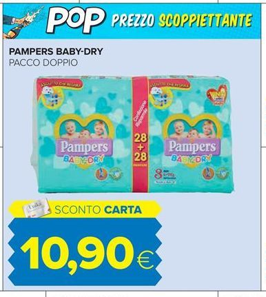 Offerta per Pampers Baby-Dry a 10,9€