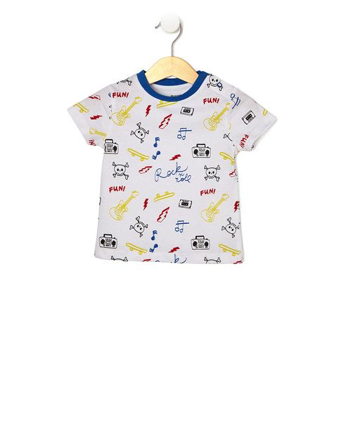 Offerta per T-shirt bianca con stampa all-over a 2,99€