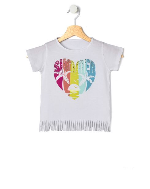 Offerta per T-shirt in jersey con stampa cuore a 4,79€