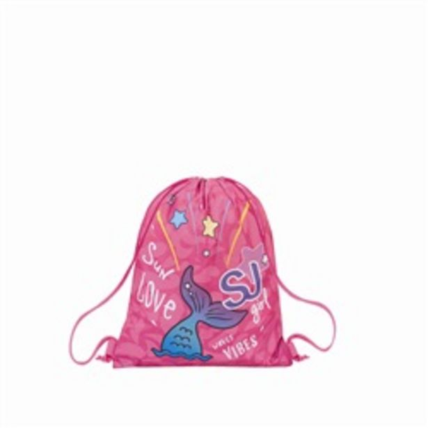 Offerta per Zaino coulisse Sakky Bag Seven SJ Gang Girl Sweet Wave Rodhamine Red a 12,9€