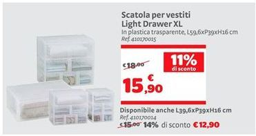 Offerta per Scatola per vestiti Light Drawer XL a 15,9€