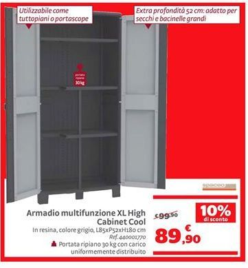 Offerta per Armadio multifunzione XL high cabinet cool a 89,9€