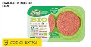 Offerta per Hamburger di pollo bio Fileni a