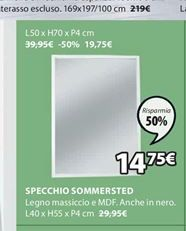 Offerta per Specchio Sommersted a 14,75€