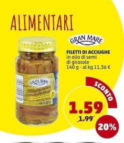 Offerta per Filetti di acciughe a 1,59€
