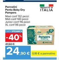 Offerta per Pannolini Pentaa Baby Dry Pampers a 24,9€