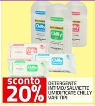 Offerta per Detergente intimo/salviette umidificate Chilly vari tipi a