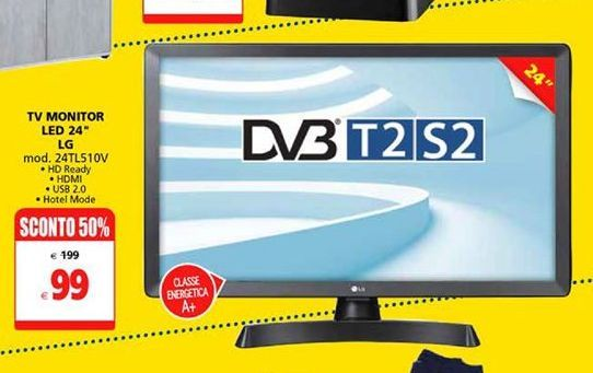 "Offerta per TV monitor led 24"" LG a 99€"