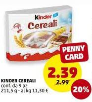 Offerta per Snacks Kinder a 2,39€