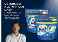 Offerta per Detersivo All in 1 pods Dash 48/43 pezzi a