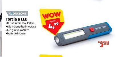 Offerta per Torcia led Work Zone a 4,99€
