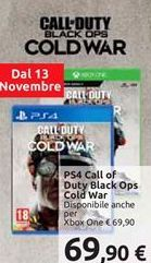Offerta per PS4 call of duty black ops cold war a 69,9€