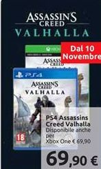 Offerta per PS4 assassins creed valhalla a 69,9€
