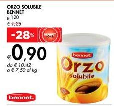 Offerta per ORZO SOLUBILE BENNET a 0,9€