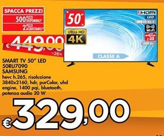"Offerta per SMART TV 50"" LED 50RU7090 SAMSUNG a 329€"