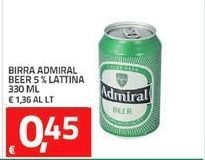 Offerta per Birra Admiral beer 5% lattina 330ml a 0,45€