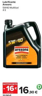 Offerta per Lubrificante Arexons a 16,9€