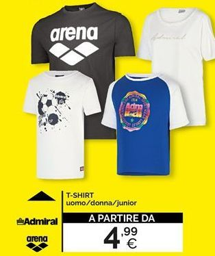 Offerta per T-shirt uomo/donna/junior a 4,99€
