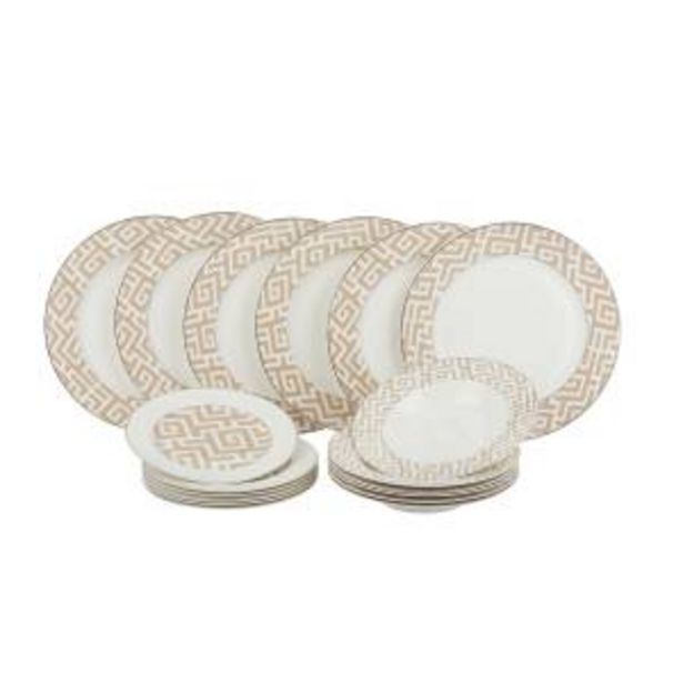 Offerta per SET PIATTI MAZE IN NEW BONE CHINA, DA 18 PEZZI a 79,9€