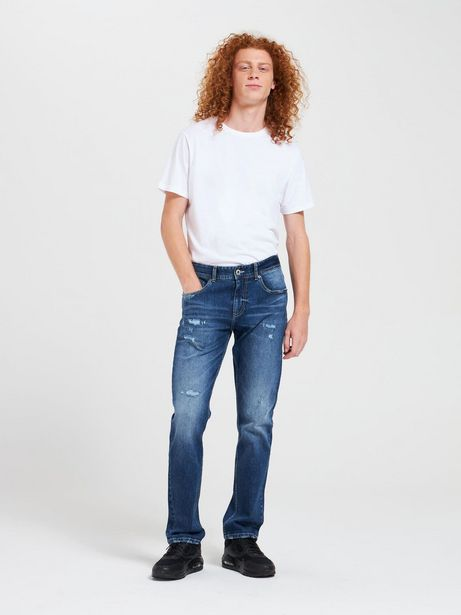 Offerta per Jeans in denim scuro con rotture Blu denim scuro a 27,99€