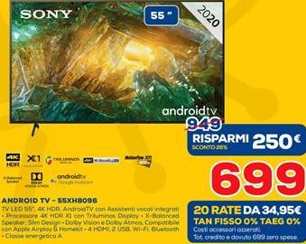 Offerta per Android tv a 699€