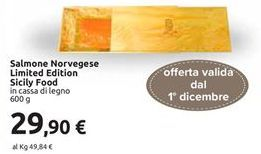 Offerta per Salmone norvegese Limited edition Sicily Food 600g a 29,9€