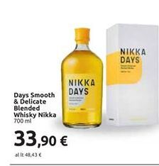 Offerta per Days smooth & delicate blended whisky Nikka 700ml a 33,9€